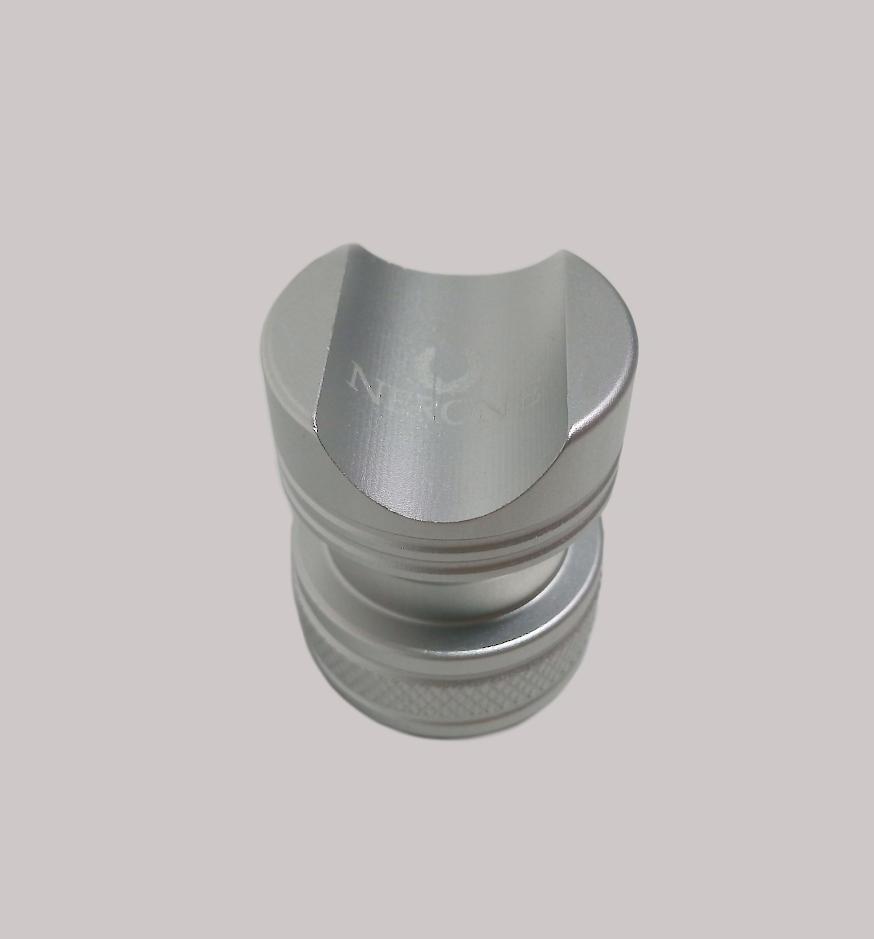 Descanso para charuto Nerone aluminio Prata