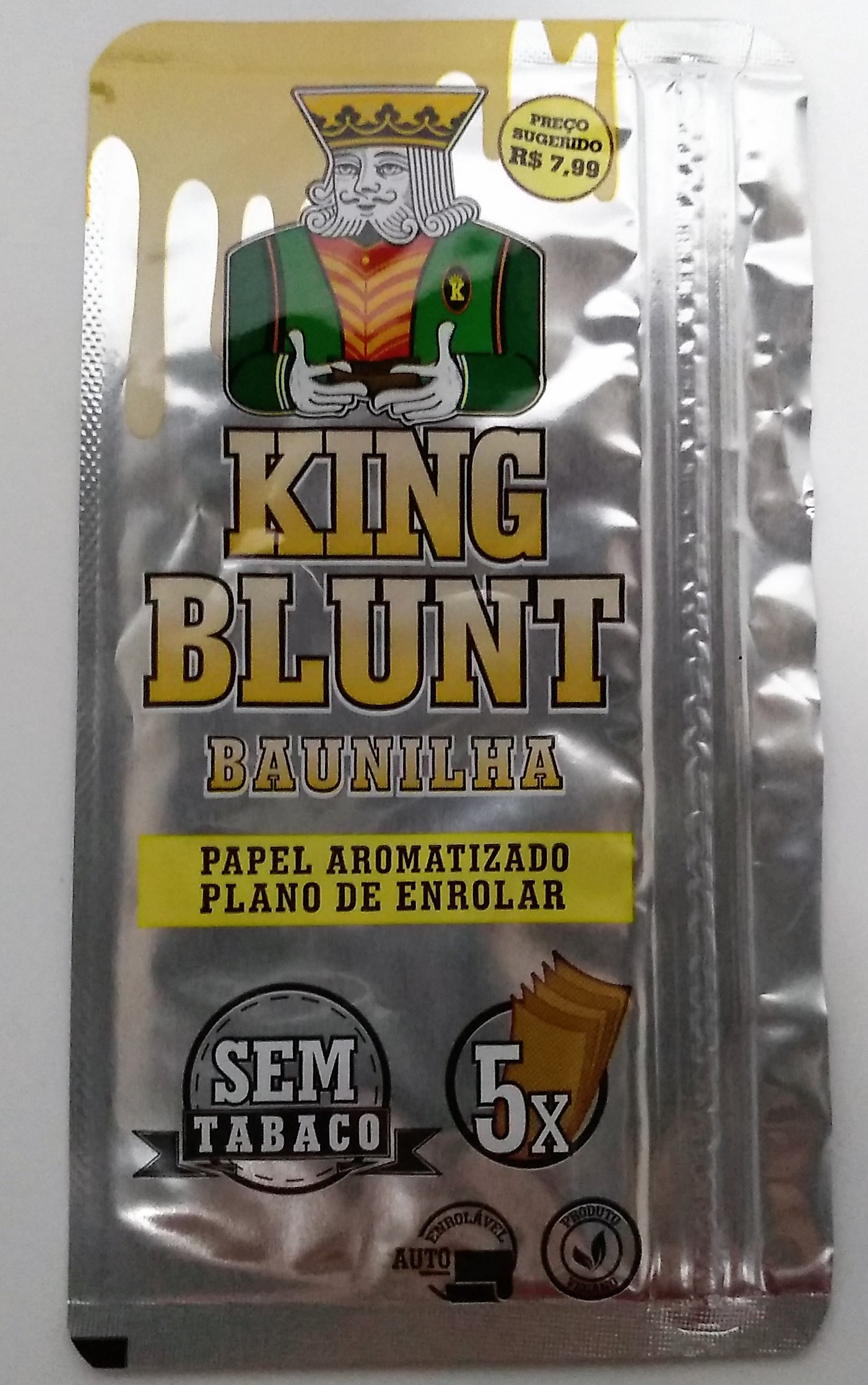 Papel Blunt King Blunt Baunilha